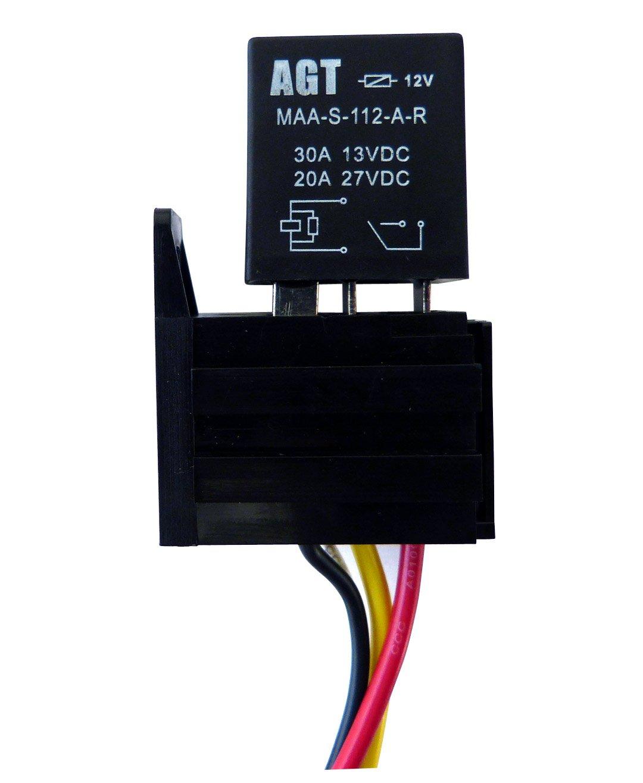 amazon com genssi car 30a 12v spst micro relay kit for electric fan rh amazon com 12V Auto Relay Diagram 12V Auto Relay Diagram