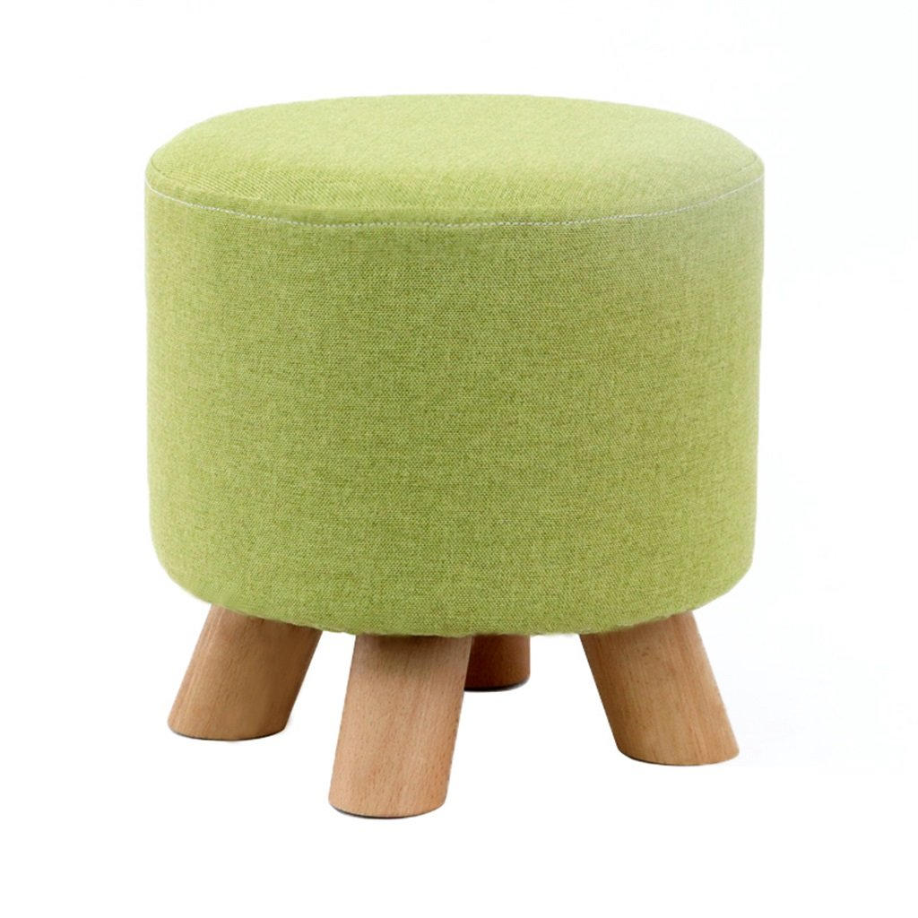 6 KXBYMX Solid Wood Home Stool Creative Living Room shoes Stool Fabric Sofa Stool Short Stool - Home Stool (color     6)