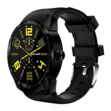 KDSFJIKUYB Montre Connectée Smartwatch GPS Bluetooth Smart Watch GPS Android 3G Smartwatch avec Android OS MTK6572A