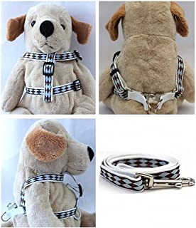 "product image for Diva-Dog 'Harlequin Blue' Custom 5/8"" Wide Dog Step-in Harness with Plain or Engraved Buckle, Matching Leash Available - Teacup, XS/S"