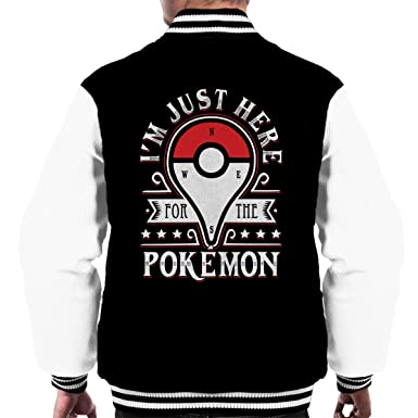 Catching Some Monsters Pokemon Go Mens Varsity Jacket: Amazon.es ...