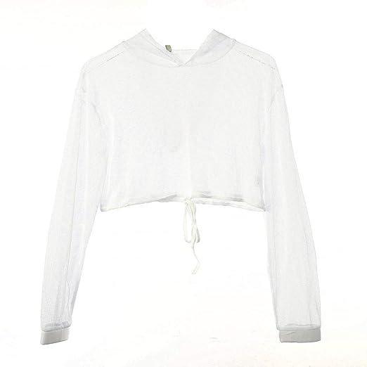 e47d1e7a9c1 Women s Summer Sheer Mesh Long Sleeve Cover Up Tops at Amazon Women s  Clothing store