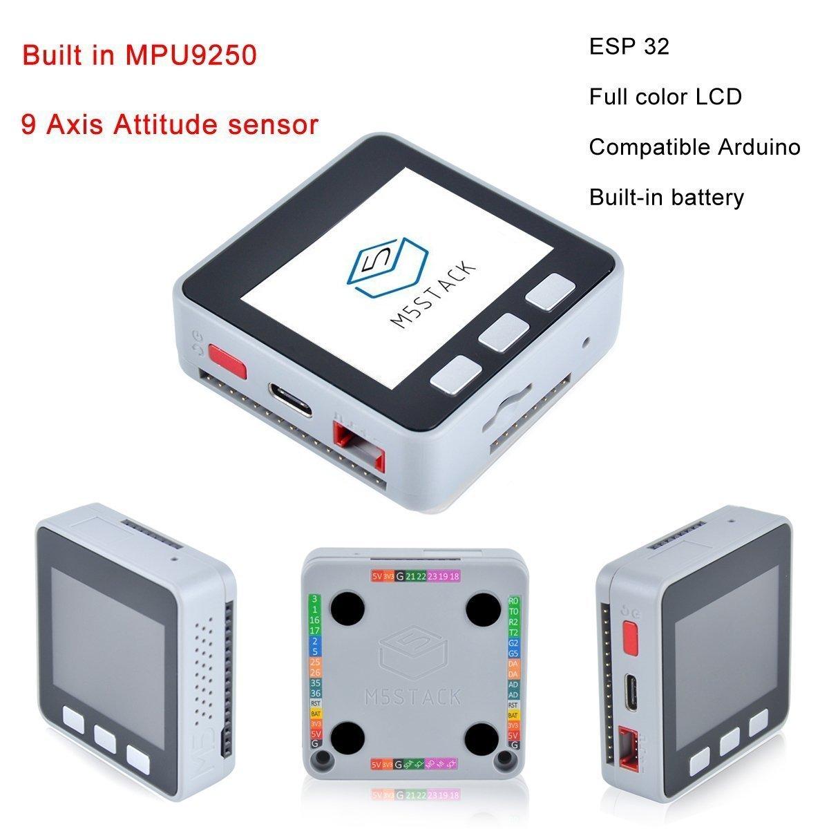 WINGONEER M5Stack ESP32 Kit de placa de desarrollo Wifi Bluetooth expandible Compatible con MPU9250 incorporado con Ardu