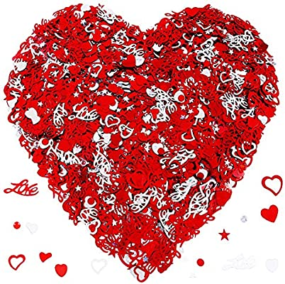 RED HEART Confetti Sparkle Party Arts and Crafts VALENTINES LOVE BIRTHDAY PARTY