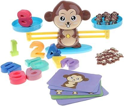 Juguete Educativo Niños Balanza de Equilibrio Números Tarjetas de Monos de Resto y Sumación Juego para Aprendizaje de Aritméticos: Amazon.es: Juguetes y juegos