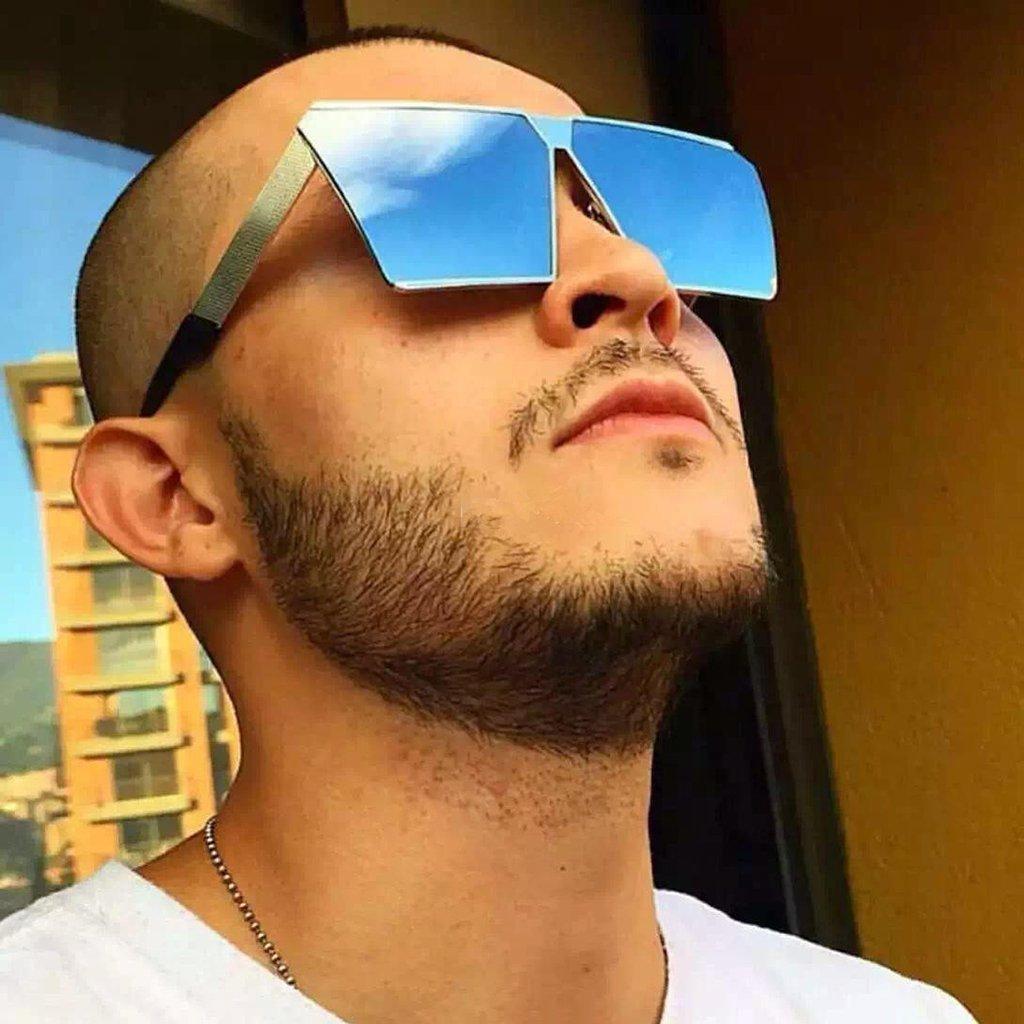 MagiDeal Gafas de Sol Grandes Mujeres Hombre De Moda Diseño Retro Cómodo Protección Sexy Accesorio