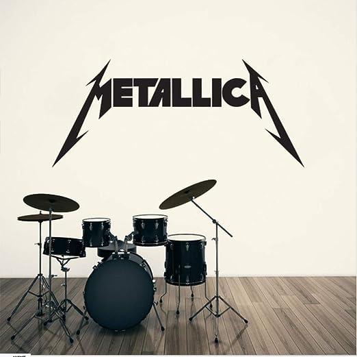 hllhpc Metallica Letras Patrón Palabra Pegatinas De Pared ...