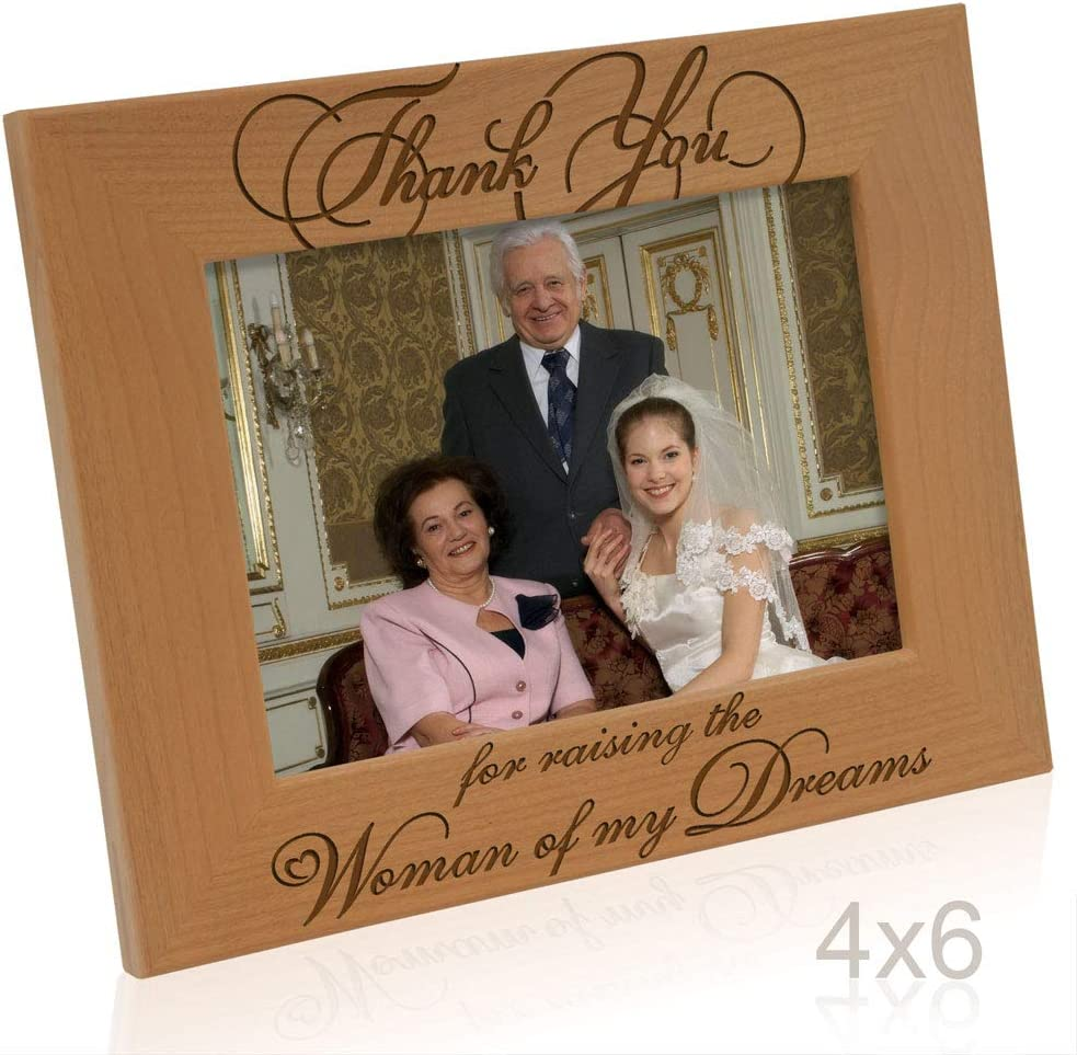 Thank you for raising the girl of my dreams Mother of the bride gift from groom Personaized picture frame 4x6 frame Flowers in December