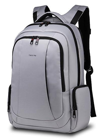 1de40466d6 NORSENS Laptop Backpack 17 in for Men Lightweight Business Computer  Notebook Backpacks in Sliver  Amazon.co.uk  Computers   Accessories