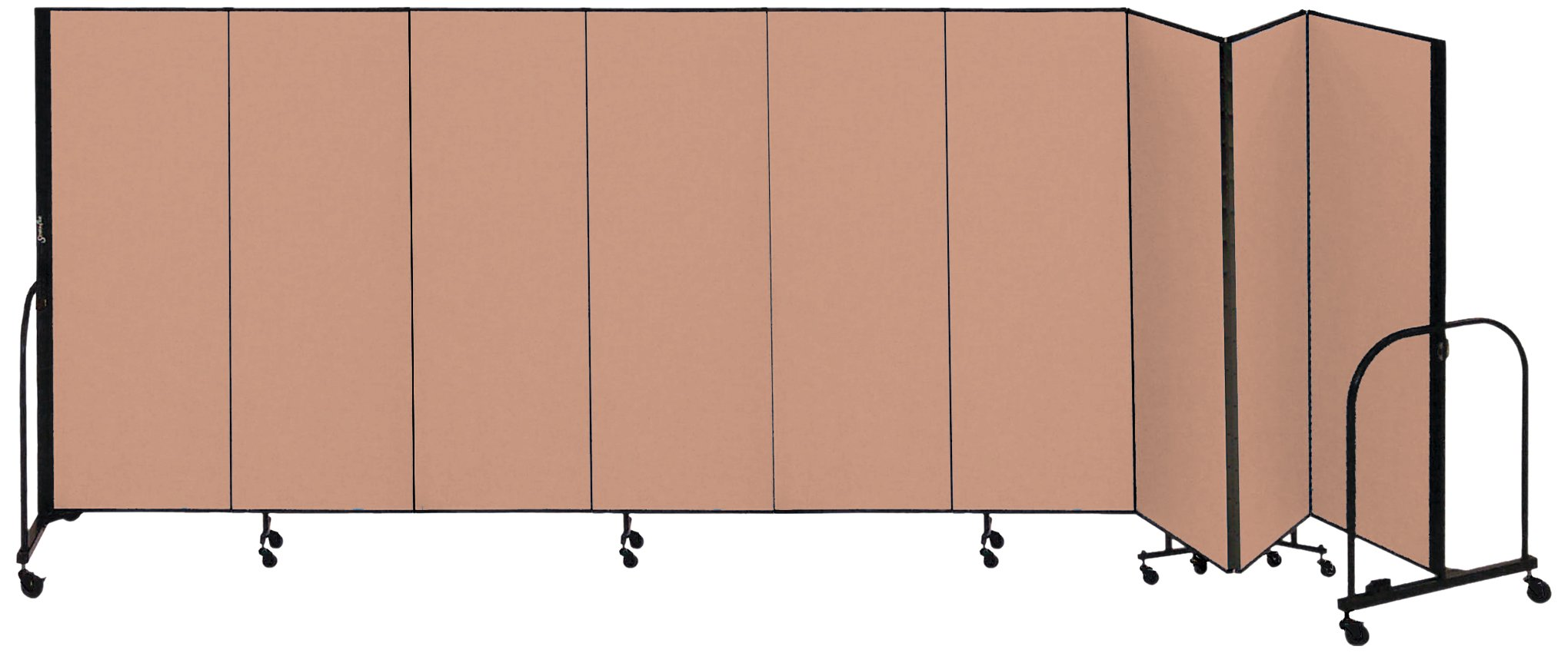 Screenflex Commercial Portable Room Divider (CFSL609-DO) 6 Feet High by 16 Feet 9 Inches Long, Designer Walnut Fabric