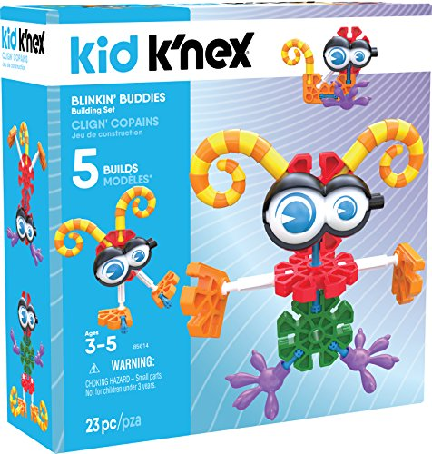 K'NEX Kid BLINKIN' Buddies Building Set - 23Piece - Ages 3 & Up Preschool Educational Toy Building ()