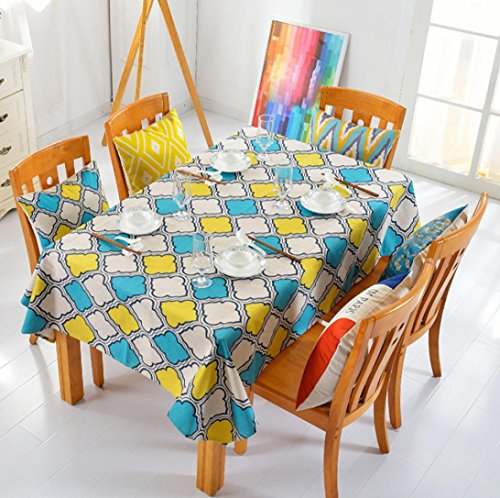 Gotd New Geometry Pattern Table Cloth Tablecloth Thick Cotton linen Tablecloth Soft 100cmx40cm by Goodtrade8
