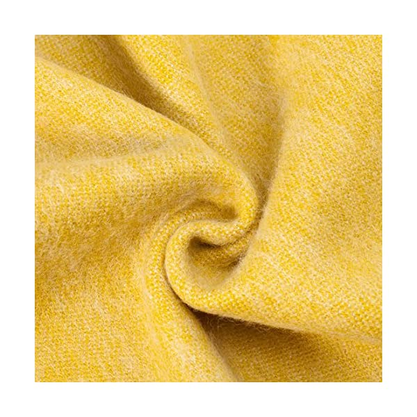 spencer /& whitney Bed Throw Blanket Yellow Throws Australian Wool Blanket Soft Light Cashmere Blankets Wool Shawl Wrap Twin Blanket Throws
