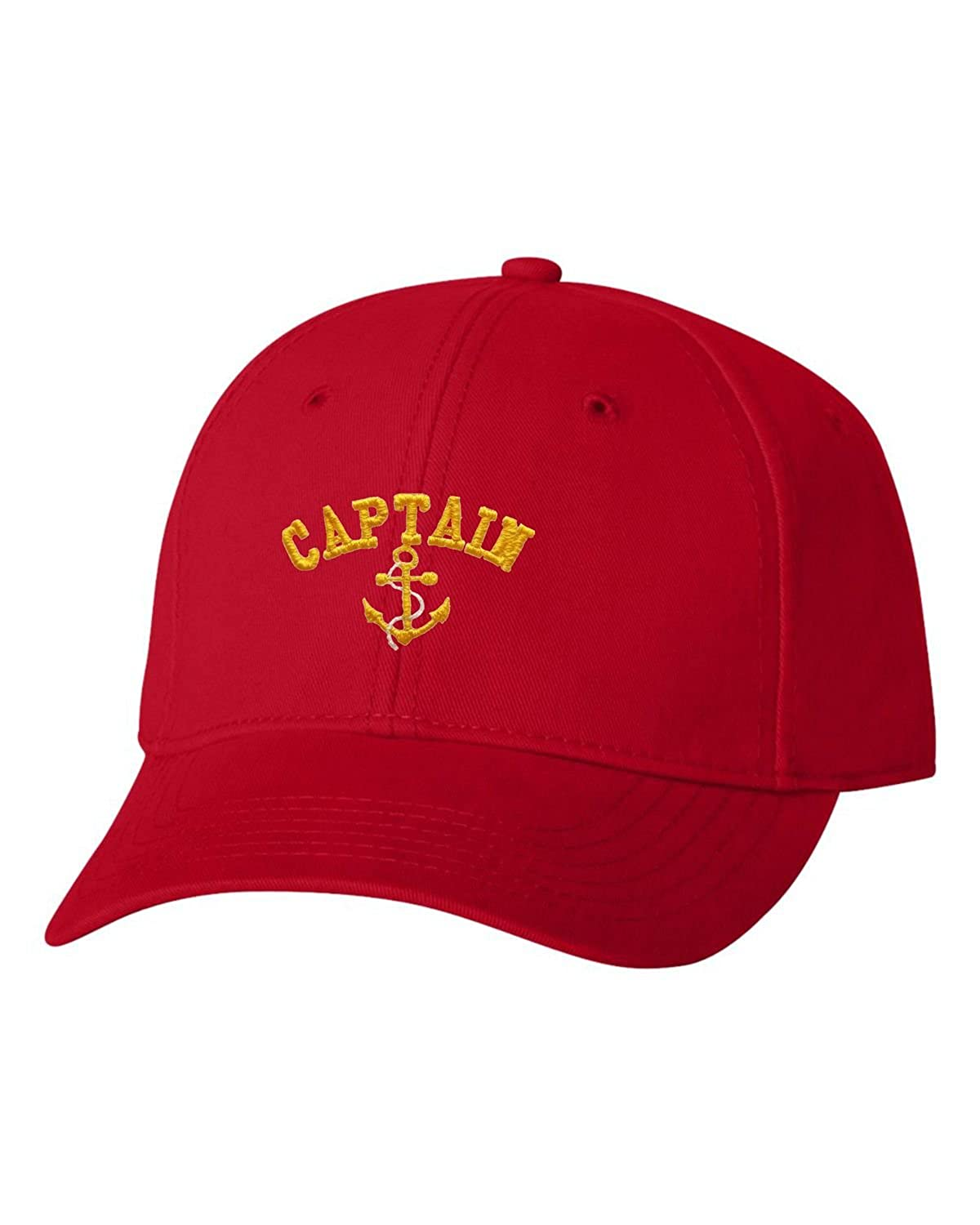 Go All Out Adult Captain with Anchor Embroidered Dad Hat Structured Cap CAPTAINHAT_SDC_BK1_ADJ