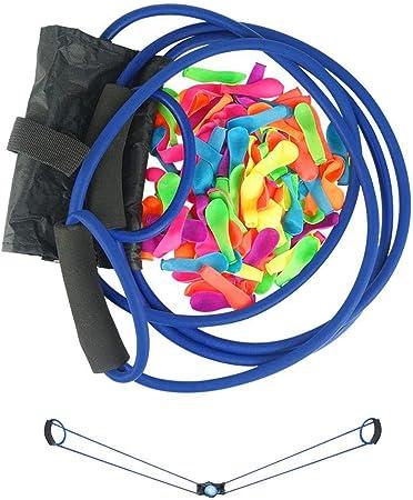 Tamaño: longitud de línea 2 m, material: tubo de látex, color: azul, negro, amarillo, que incluye: d