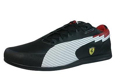 Puma EvoSpeed Lo SF Ferrari Mens Leather sneakers Shoes-BLACK-6