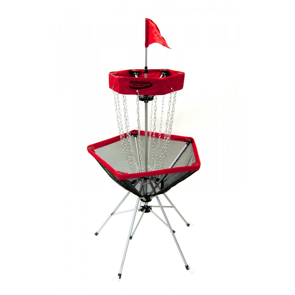 Innova DISCatcher Traveler Disc Golf Target Basket (Red)