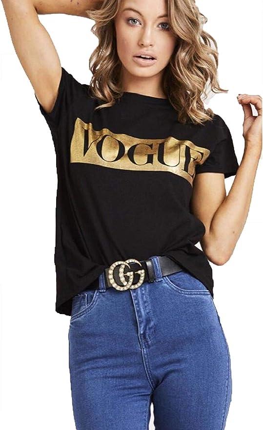 Ladies Short Sleeve /'Oh Honey/' Slogan T-shirt Printed Womens Tee Tops