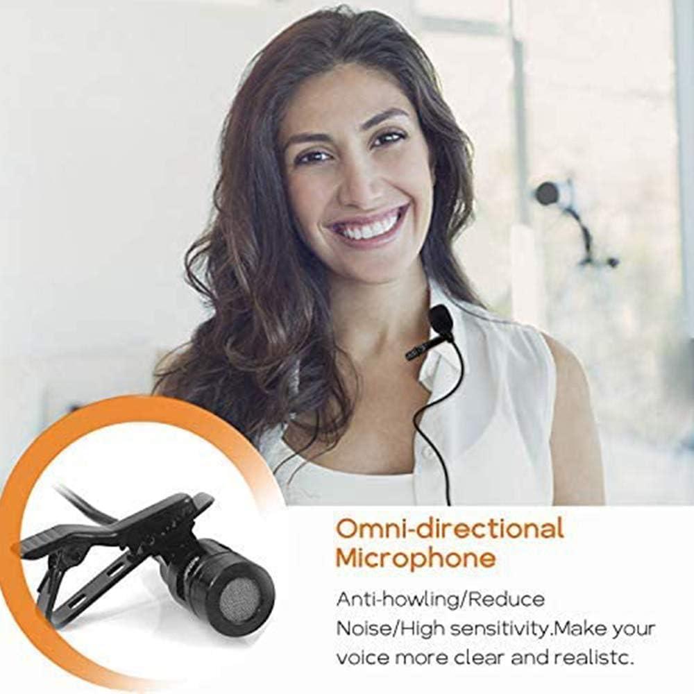 UHF Wireless Lavalier Mikrofon f/ür Handy und Kamera Ton- und Videoaufzeichnung 50m Wireless /Übertragung XIAOKOA Wireless Mikrofon