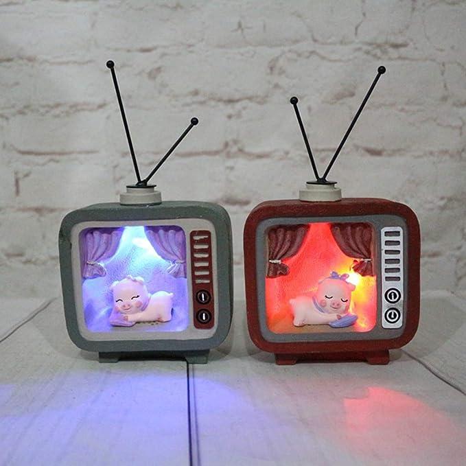IPOTCH Juguete de Televisor Realista Gris Plástico con Figurita de Cerdo Durmiendo Niños: Amazon.es: Hogar