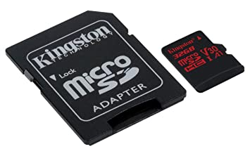 Kingston Canvas React 32GB microSDHC Class 10 microSD Memory Card UHS-I 100MB/s R Flash Memory High Speed microSD Card with Adapter (SDCR/32GB)