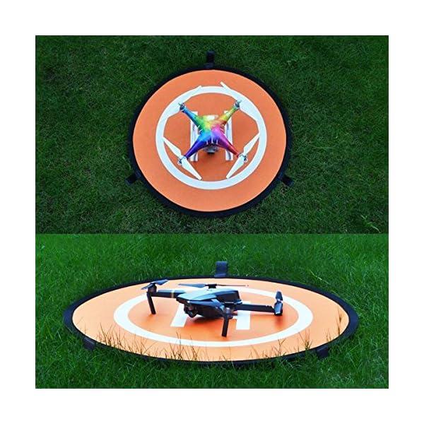 LVHERO Drone Landing Pad, Landing Pad Pieghevoli Portatili Impermeabili Universali D 55cm per Elicotteri RC Drones, Droni PVB, DJI Mavic PRO Phantom 2/3/4 / PRO, Antel Robotic, 3DR Solo 5 spesavip