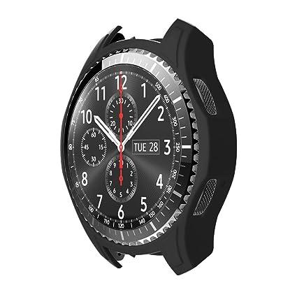 STRIR Carcasa para Smartwatch Gear,a Prueba de Golpes y Suciedad, para Smartwatch Samsung Gear S3 Frontier (Negro)