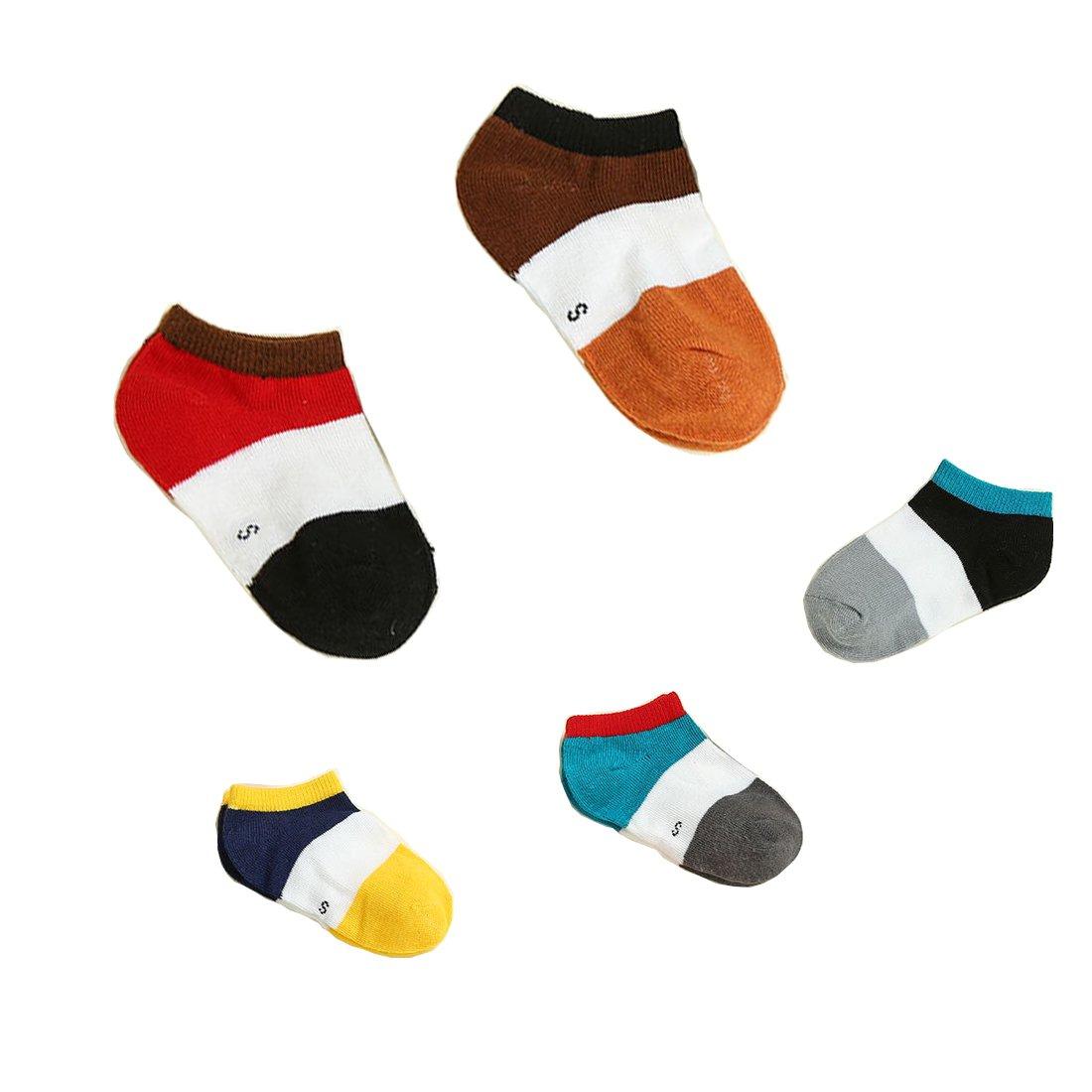 UBae New Style Unisex Baby Socks Breathable Cotton Socks Kid Socks 5 Pairs