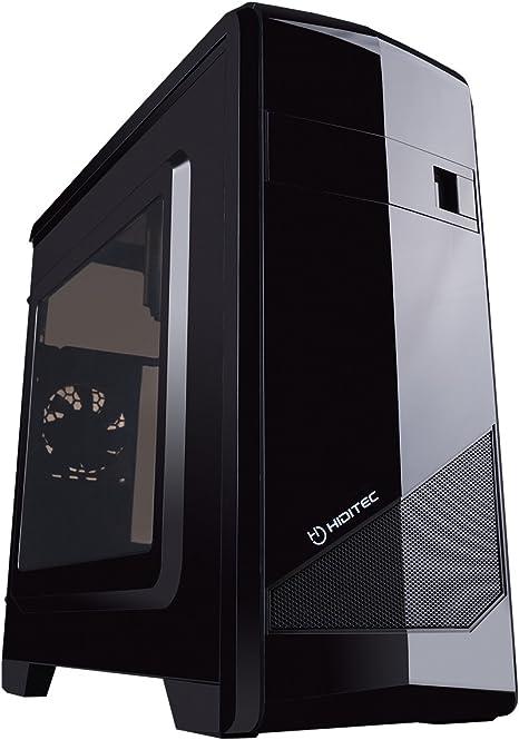 Hiditec M10 Negro - Caja de Ordenador (PC, De plástico, Acero ...