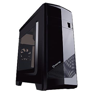 Hiditec M10 - Caja de Ordenador (PC, De plástico, Acero, 1x 50 mm, ITX, Micro-ATX, Negro): Hiditec: Amazon.es: Informática