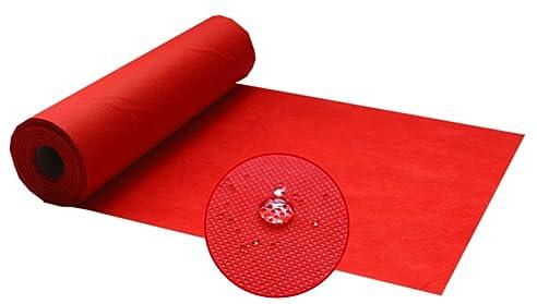 Silver Tischdecke Rot,Meterware Von Der Rolle Aus Stoffähnlichem Vlies,  Dicke Und Feste Gastronomiequalität