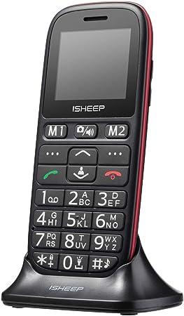 Teléfono móvil con Personas Mayores, Teclas Grandes, Isheep D102 gsm, Pantalla de 1,77 Pulgadas, tecla de Emergencia, cámara, Negro: Amazon.es: Electrónica