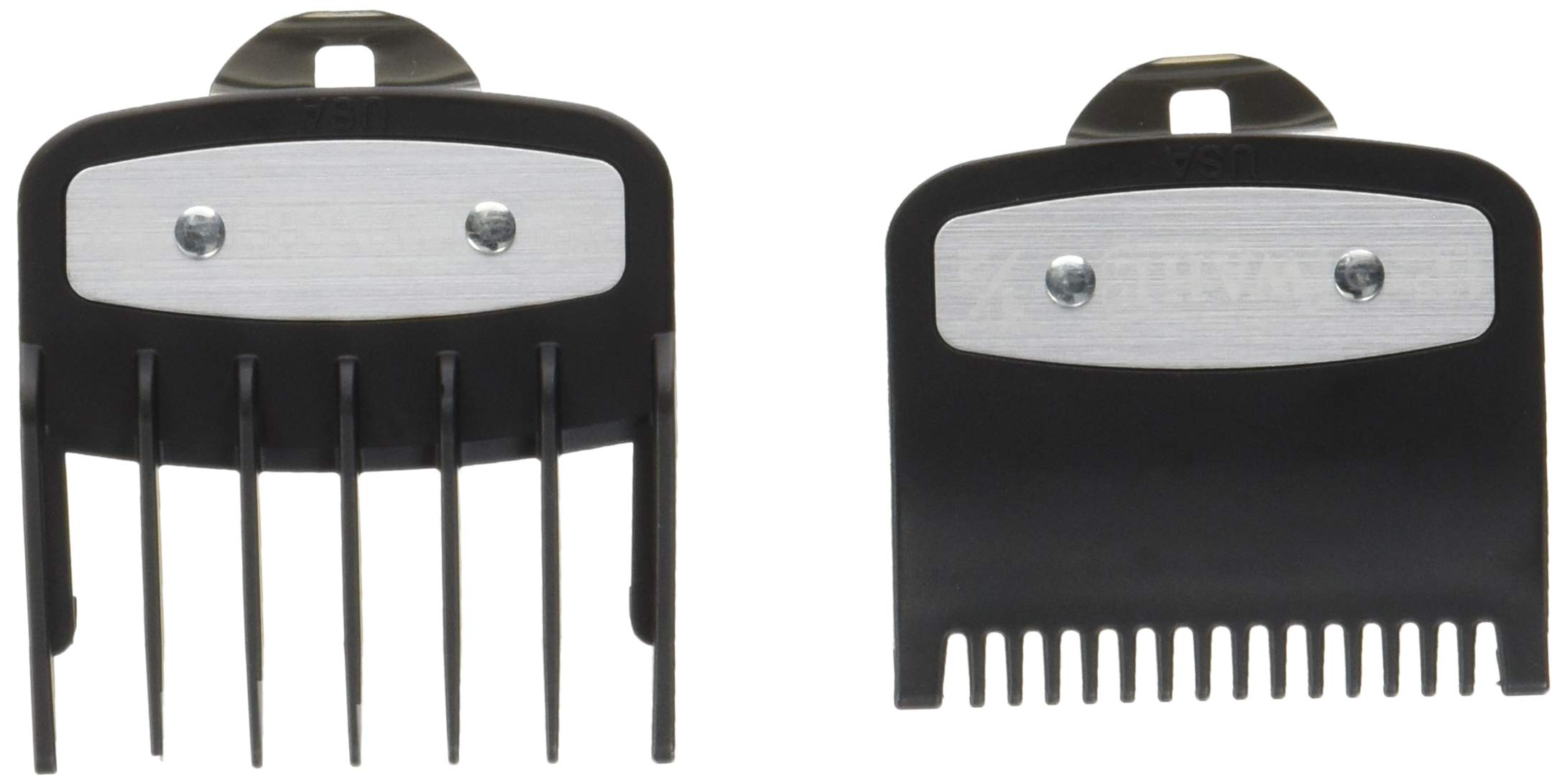 Professional Versatile Premium Cutting Guide Comb with Metal Clip 1/2'' &1 1/2'' Combo Set #3354-1100-1000 for All Wahl Clippers/Trimmer