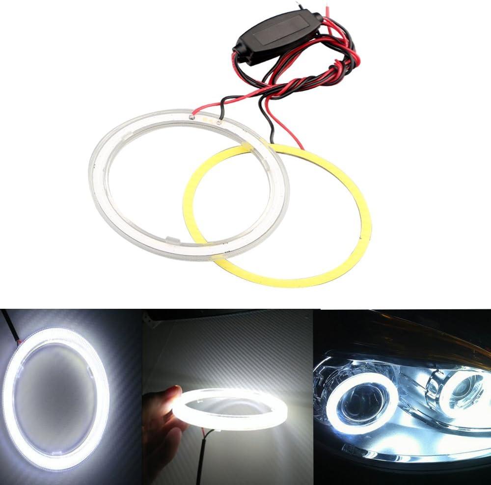 1 Pair 9 LED Car Head Angel Eye Halogen Spotlights Fog Spot Lights Foglights