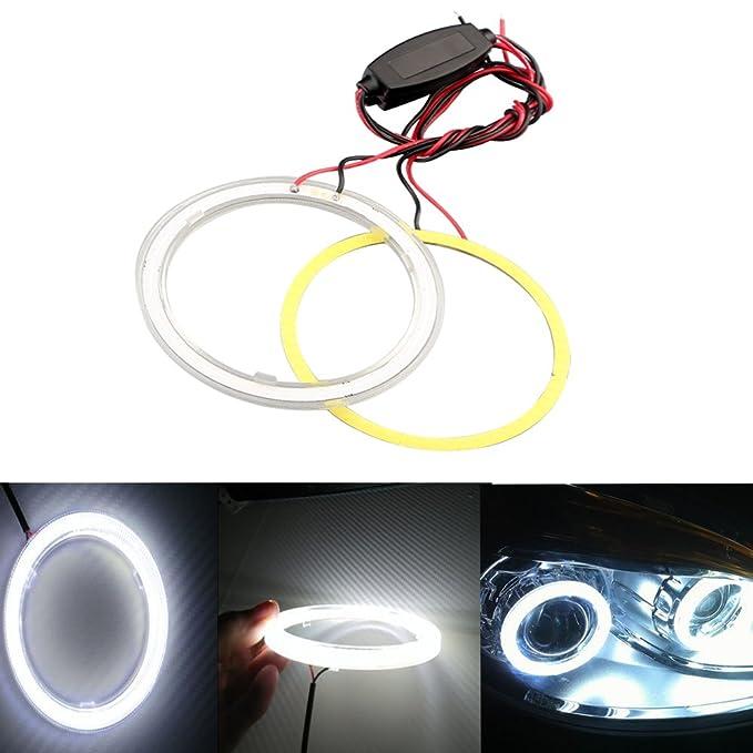 3 opinioni per Grandview 1 paio (2 pezzi) bianco 70 mm 60SMD COB LED lampadina fari Angel Eyes