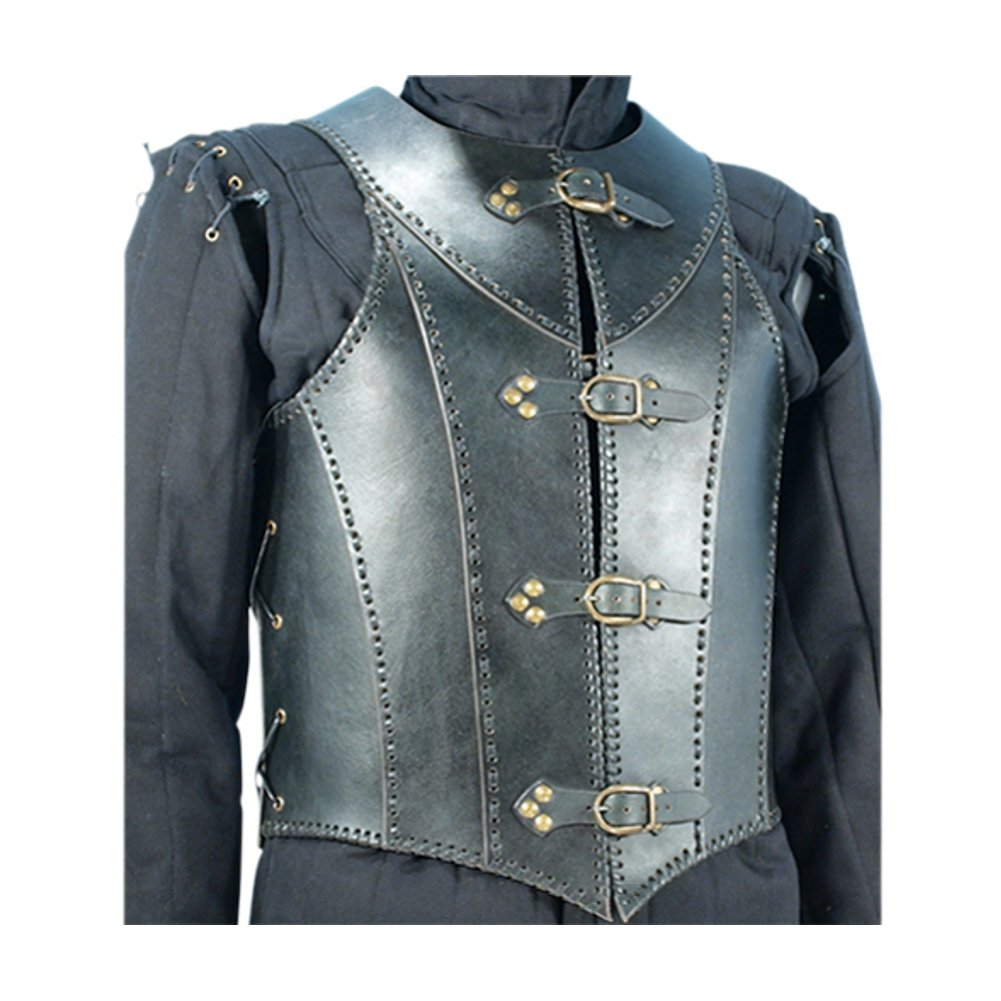Armor Venue: Veterans Leather Body Armour Black One Size