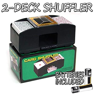 Brybelly Two Deck Card Shuffler with 2 Free Decks of Bicycle Playing Cards: Sports & Outdoors