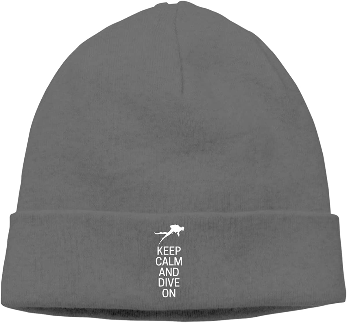 Unisex Keep Calm and Dive On Soft Knit Caps