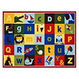 Gertmenian Teach Me Alphabet Learning Carpets Cute Animal Educational Play Mat Bedding Area Rugs, 40''x50'', Multicolor