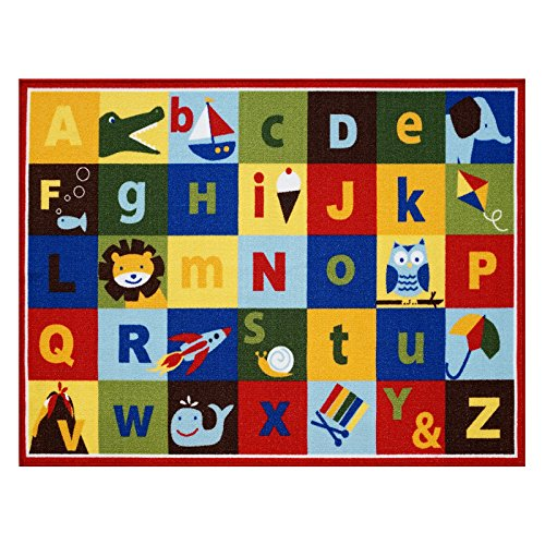 Teach Me Alphabet Learning Carpets Cute Animal Educational Play Mat Bedding Area Rugs, 40