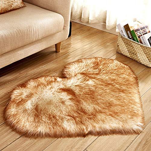 Area Rug, Elevin(TM) Wool Imitation Sheepskin Rugs Faux Fur Non Slip Bedroom Shaggy Carpet Mats (BB) ()