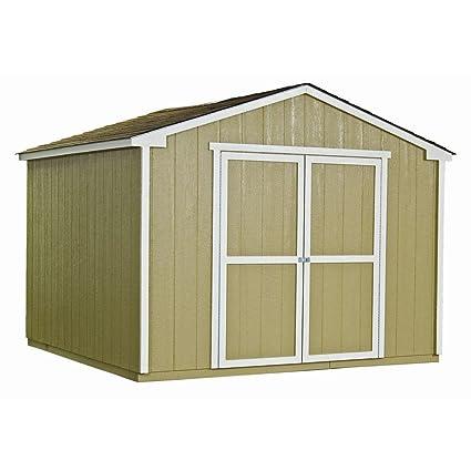 Amazon com : Princeton 10 ft  x 10 ft  Wood Storage Shed