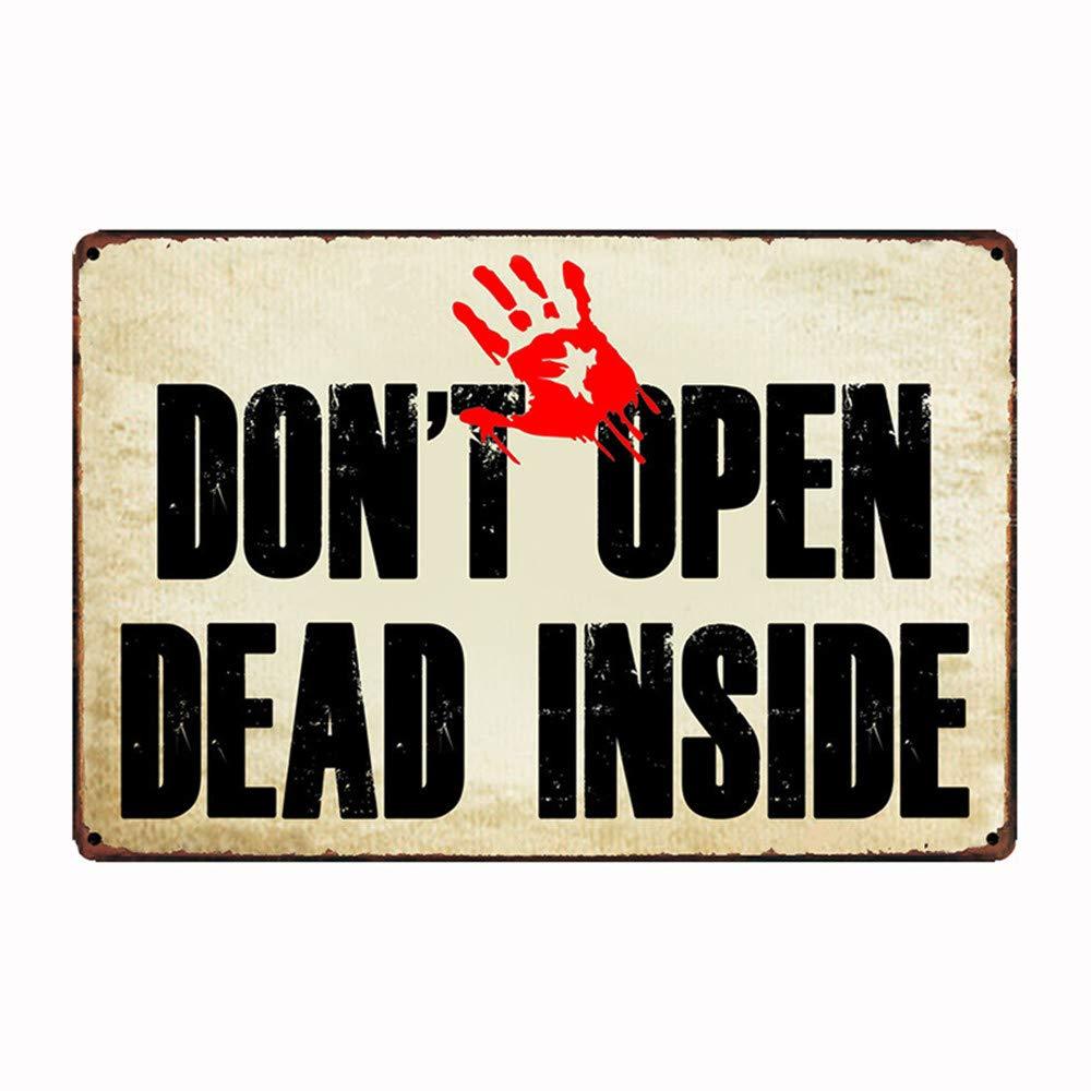Cartel de metal para puerta de 30 x 20 cm con texto en ...