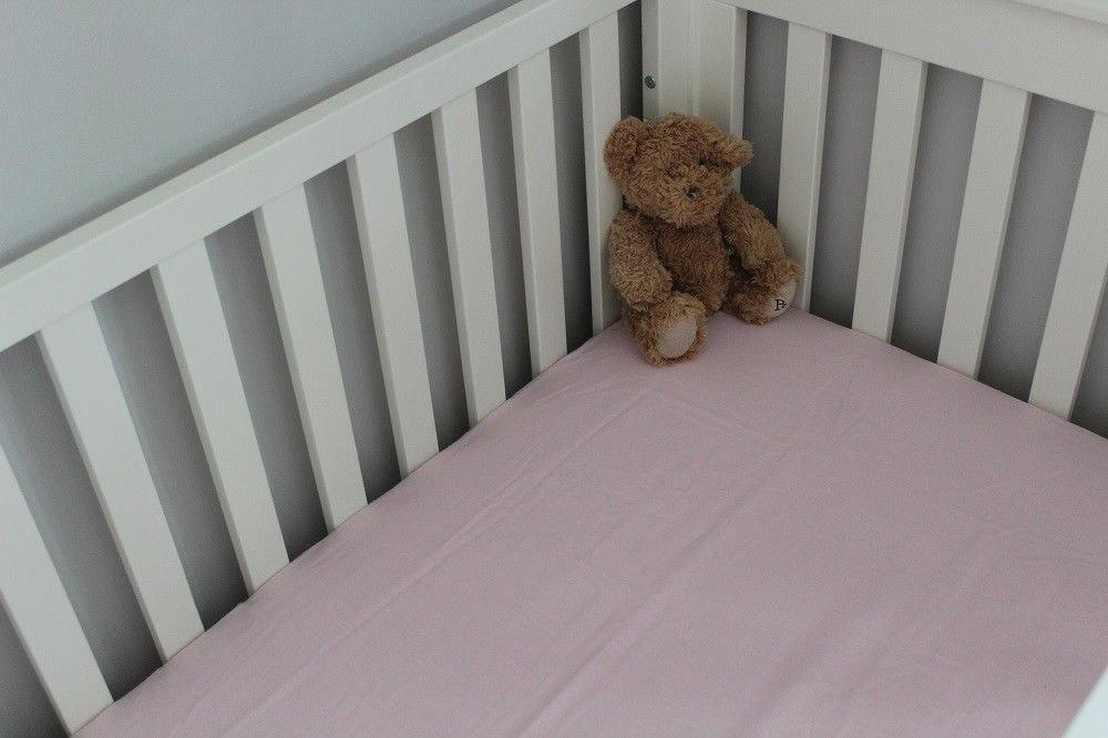 Cot Bed 100% Cotton Flat Sheet 100 x 150 cm (White) SHL