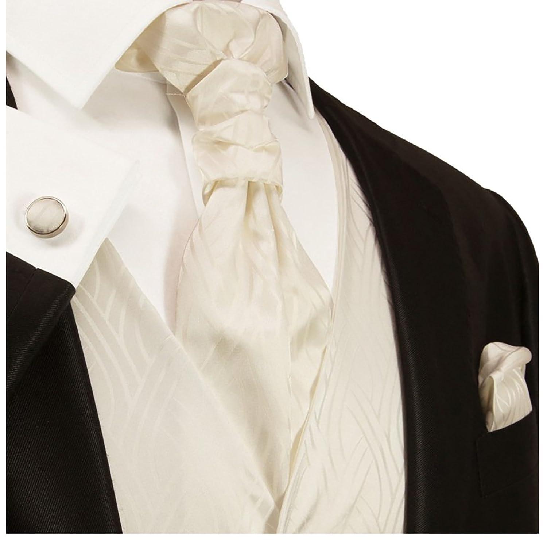 Ivory Wedding Vest Set by Paul Malone at Amazon Men\'s Clothing store: