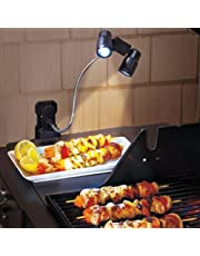 Barbacoa Grill luces con luces LED Super Bright - Durable, Weatherability, multifunción LED barbacoa al aire libre (negro)