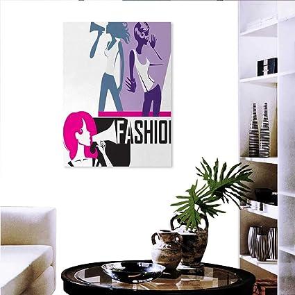 amazon com teen girls modern wall art living room decorationteen girls modern wall art living room decoration composition girls yelling into megaphone modern stylish fashion