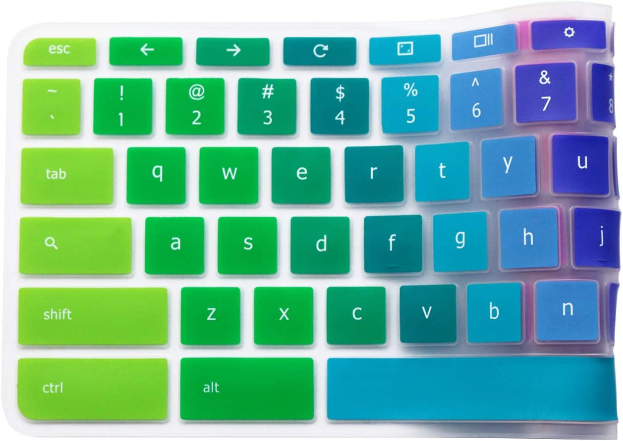 Silicone Keyboard Cover for Acer Chromebook R 11 CB3-131 CB3-132 Acer Chromebook 15 Acer Premium R11 11.6 Convertible 2-in-1 Chromebook Acer Chromebook 14 Acer Chromebook R 13 CB5-312T Rainbow