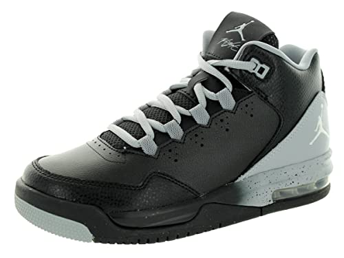 796aa66cccc3 Nike Jordan Kids Flight Origin 2 GS Black White Wolf Grey Basketball Shoe 6