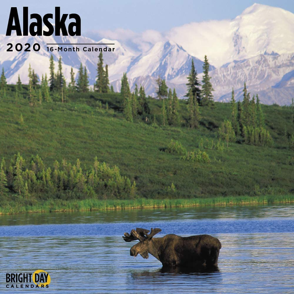 2020 Alaska Wall Calendar by Bright Day, 16 Month 12 x 12 Inch, USA Hometowns Collection